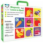 Play Panda Magnetic Learn to Spell: Objects with 32 Picture Magnets, 72 Letter Magnets, Magnetic Board and Spelling Guide