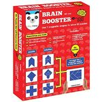 Play Panda Brain Booster Type 1 - 56 puzzles designed to boost intelligence - with Magnetic shapes, Magnetic board, Puzzle book and Solution book