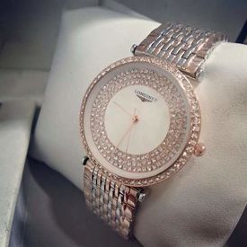 Imported Bridal Longines Diamond Gold plated Designer ladies Women watch