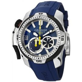 Graham Chronofighter Blue Rubber Watch