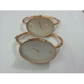 Imported Bridal Wear Designer CK (Bangle Style) Golden Belt Gift Watch Women Lady Ladies White Dial