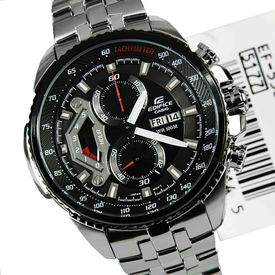 100% Authentic NEW Imported Casio EF558D-1AV Men s Edifice Stainless Steel Sport Chronograph Watch