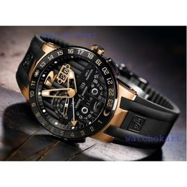 Ulysse Nardin El Toro Mens Automatic Watch With Day Date Month and Year Black Golden