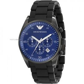 EMPORIO ARMANI AR6032 FULL BLACK BLUE DIAL