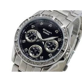 IMported Casio Sheen Analog Made of SwaroVski Elements Dial Women's Watch - SHE-3013D-1A