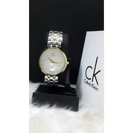Imported CK Golden watch for Women Lady ladies White Dial metal belt